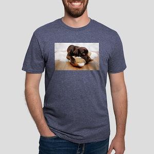 labrador-dog-cuddling-with-teddy-bear T-Shirt