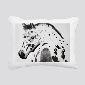 Leopard Appaloosa Colt p Rectangular Canvas Pillow