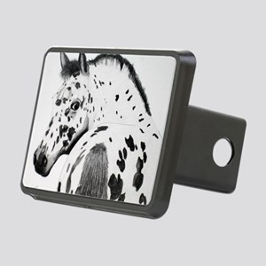 Leopard Appaloosa Colt pen Rectangular Hitch Cover