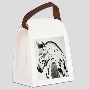 Leopard Appaloosa Colt pencil dra Canvas Lunch Bag