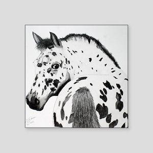 "Leopard Appaloosa Colt penc Square Sticker 3"" x 3"""