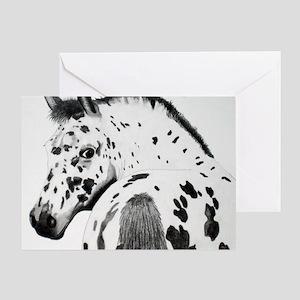 Leopard Appaloosa Colt pencil drawin Greeting Card
