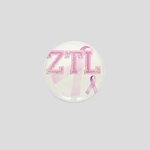 ZTL initials, Pink Ribbon, Mini Button