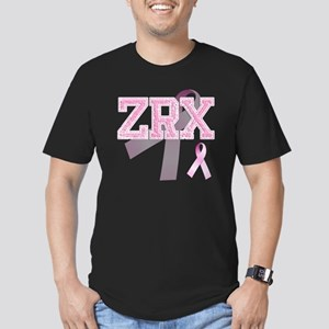 ZRX initials, Pink Rib Men's Fitted T-Shirt (dark)