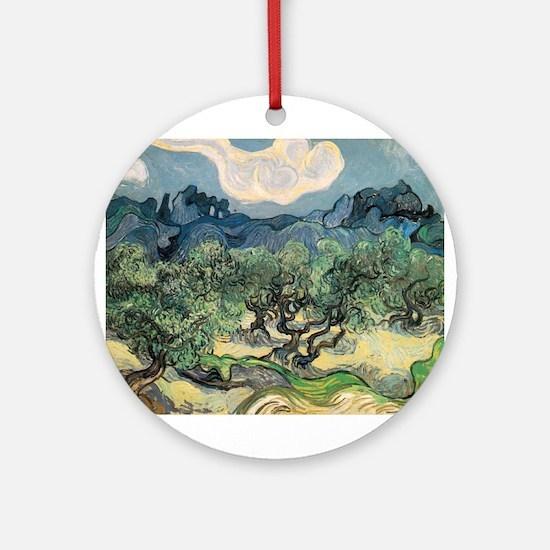 Olive Trees - Van Gogh - c1889 Round Ornament
