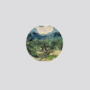 Olive Trees - Van Gogh - c1889 Mini Button