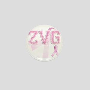 ZVG initials, Pink Ribbon, Mini Button