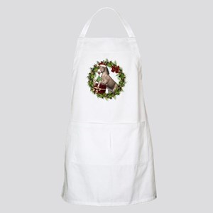Donkey Santa Hat Inside Wreath Apron