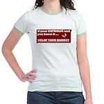 If your catholic..... Jr. Ringer T-Shirt