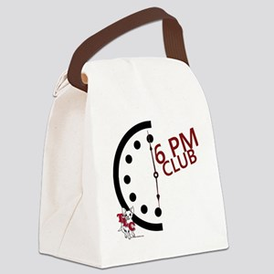 6 PM Club front Canvas Lunch Bag