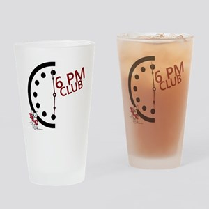 6 PM Club front Drinking Glass