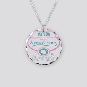 My Son Proudly Serves Americ Necklace Circle Charm