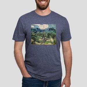 Olive Trees - Van Gogh - c1889 Mens Tri-blend T-Sh