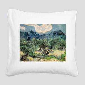 Olive Trees - Van Gogh - c1889 Square Canvas Pillo