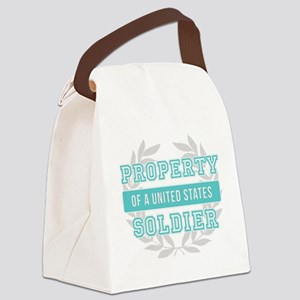 Property of a U.S. Soldier Teal Canvas Lunch Bag