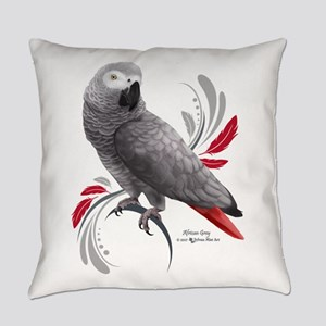 African Grey Parrot Everyday Pillow