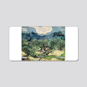 Olive Trees - Van Gogh - c1889 Aluminum License Pl