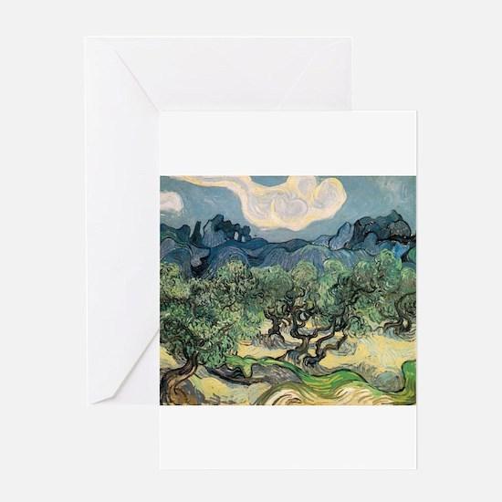 Olive Trees - Van Gogh - c1889 Greeting Card