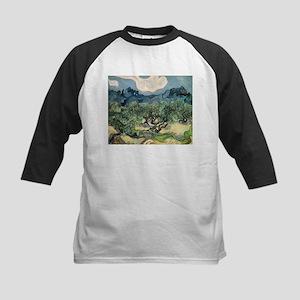 Olive Trees - Van Gogh - c1889 Kids Baseball Tee