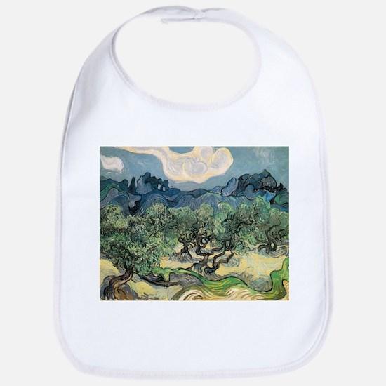 Olive Trees - Van Gogh - c1889 Cotton Baby Bib