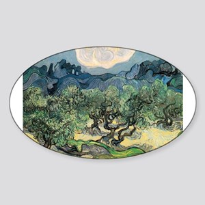 Olive Trees - Van Gogh - c1889 Sticker (Oval)