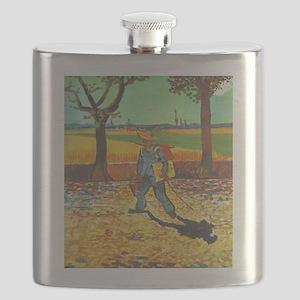 Painter on His Way to Work - Van Gogh - c1888 Flas
