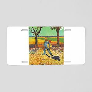 Painter on His Way to Work - Van Gogh - c1888 Alum