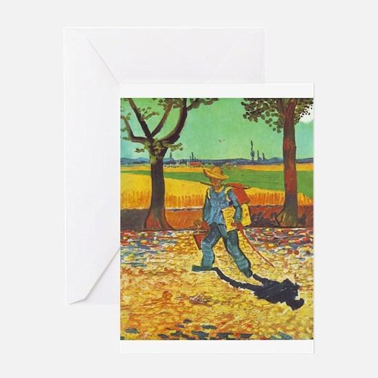 Painter on His Way to Work - Van Gogh - c1888 Gree