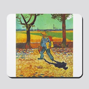 Painter on His Way to Work - Van Gogh - c1888 Mous