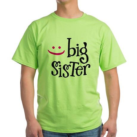 Big Sister Green T-Shirt