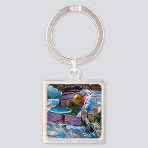 CITY IN THE CLOUDS Square Keychain