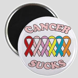 Cancer Sucks Pink Letters Magnet