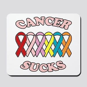 Cancer Sucks Pink Letters Mousepad