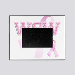 WGW initials, Pink Ribbon, Picture Frame