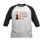 Each Note That From My Fiddle Kids Baseball Jersey