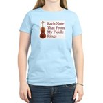 Each Note That From My Fiddle Women's Light T-Shir