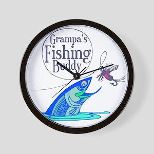 Grampas Fishing Buddy Wall Clock