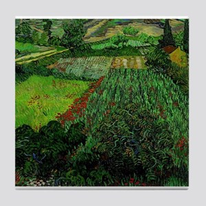 Field with Poppies - Van Gogh - c1889 Tile Coaster