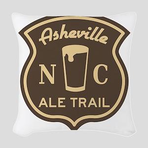 Asheville Ale Trail Logo Woven Throw Pillow
