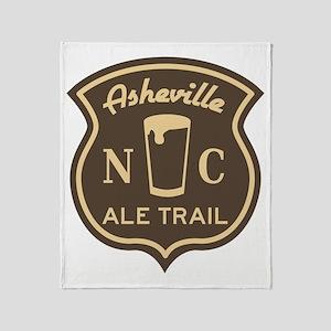 Asheville Ale Trail Logo Throw Blanket