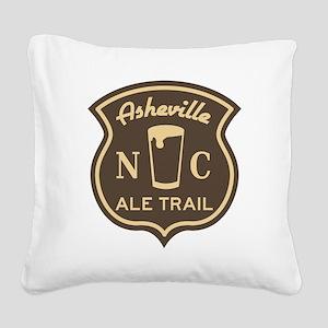 Asheville Ale Trail Logo Square Canvas Pillow