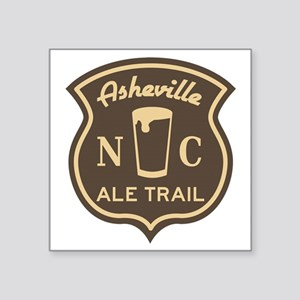 """Asheville Ale Trail Logo Square Sticker 3"""" x 3"""""""