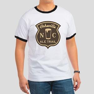 Asheville Ale Trail Logo Ringer T