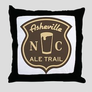 Asheville Ale Trail Logo Throw Pillow