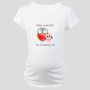 Owl Grandkids Maternity T-Shirt