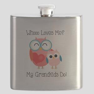 Owl Grandkids Flask