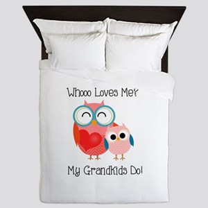 Owl Grandkids Queen Duvet