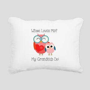Owl Grandkids Rectangular Canvas Pillow