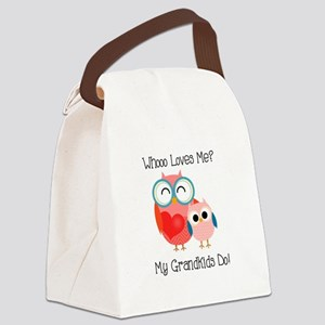 Owl Grandkids Canvas Lunch Bag
