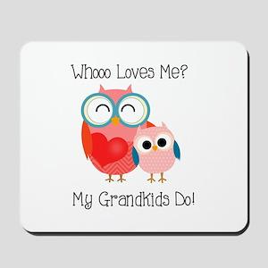 Owl Grandkids Mousepad